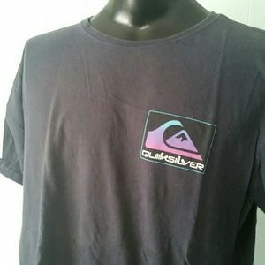 Faded and Distressed Surf Tshirt Tee Quiksilver